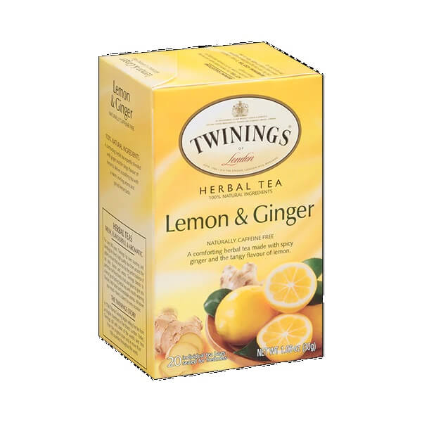 Twinings Revitalizing Lemon and Ginger Tea Bags (Pack of 20) 30g