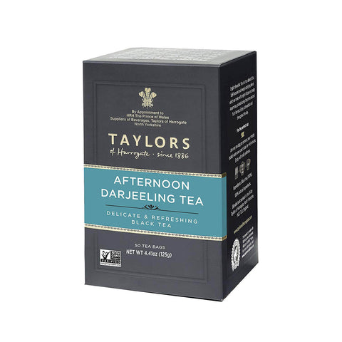 Taylors of Harrogate Tea - Afternoon Darjeeling (Pack of 50 Tea Bags) 125g