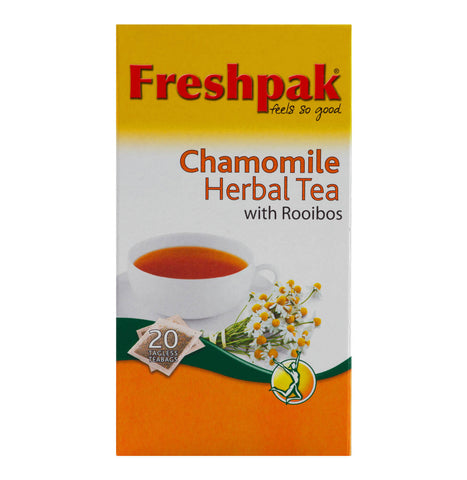 Freshpak Rooibos Tea - Chamomile Tea Bags (Pack of 20 Bags) 30g