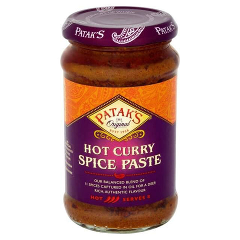Pataks Hot Concentrated Curry Paste 283g