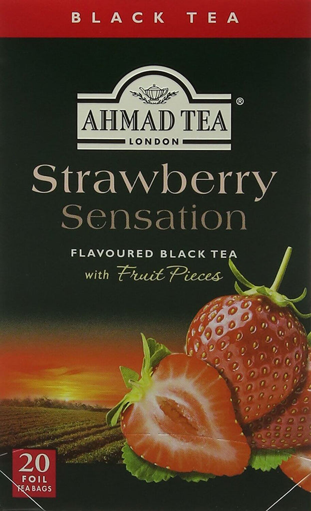 Ahmad Tea - Strawberry Sensation (Pack of 20 Tea Bags) 40g