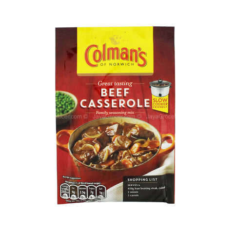 Colmans Seasoning Mix - Beef Casserole 40g