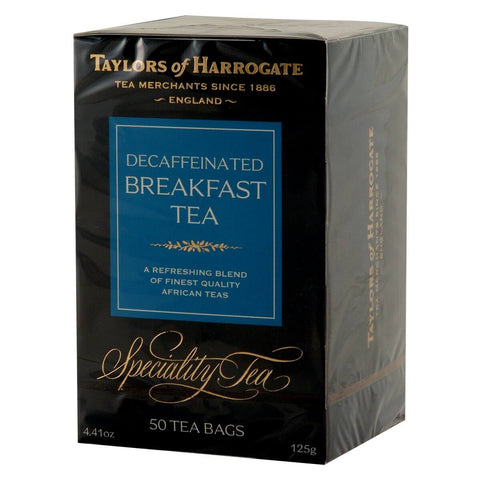 Taylors of Harrogate Decaffeinated Breakfast Tea Bags (Pack of 50) 125g