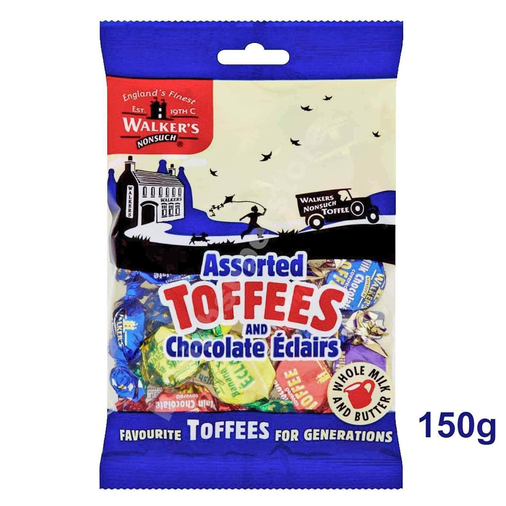 Walkers Nonsuch Assorted Toffees and Chocolate Eclairs 150g