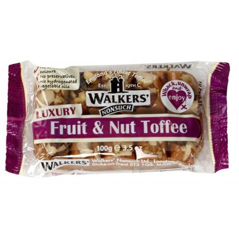 Walkers Toffee - Fruit and Nut Bar 100g