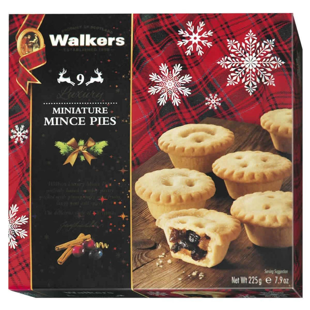 Walkers Miniature Mince Pies (Mincemeat Tarts) (Pack of 9) 225g