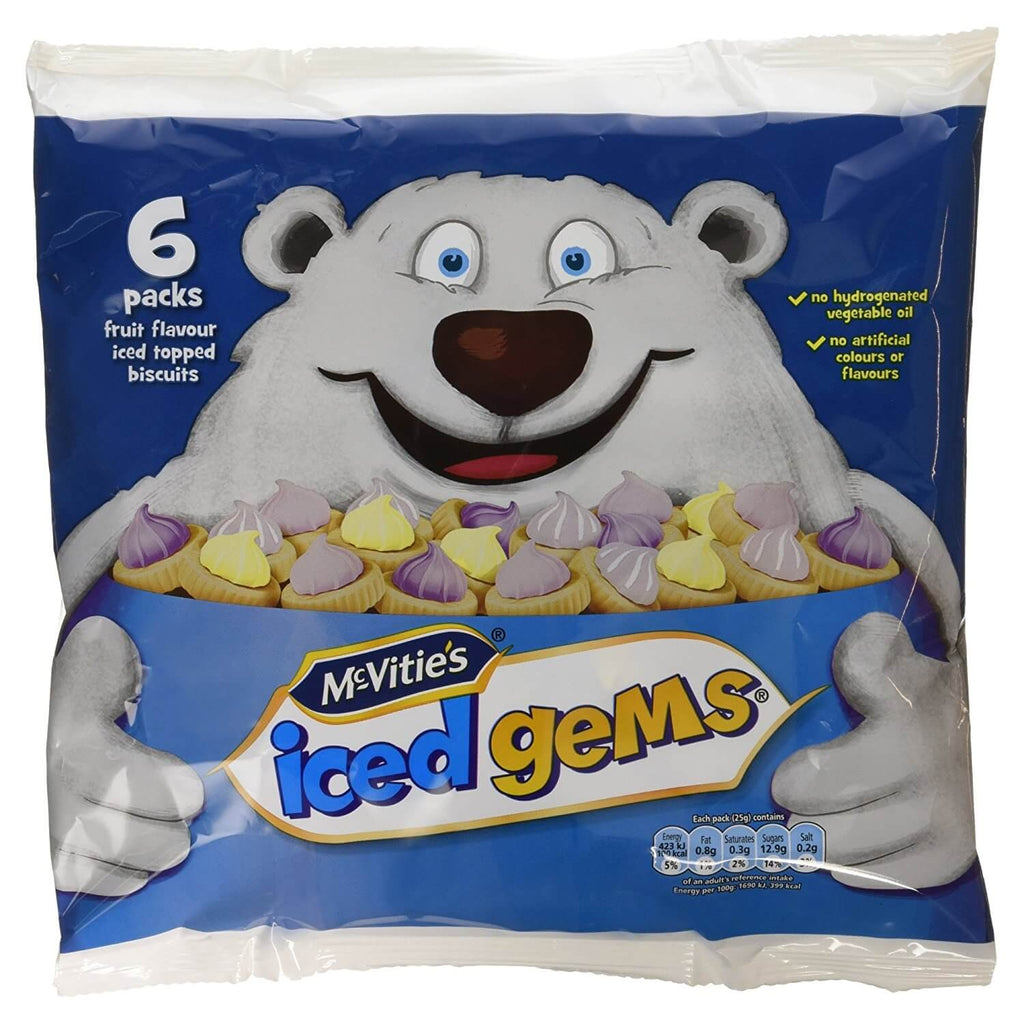 Jacobs (McVities) Iced Gems (Pack of 6 Bags) 150g