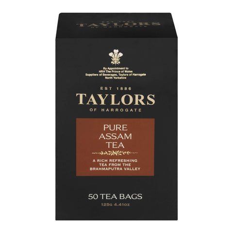 Taylors of Harrogate Pure Assam Tea Bags (Pack of 50) 125g
