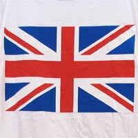 British Brands UK T-Shirts - White Traditional Flag - Small 232g