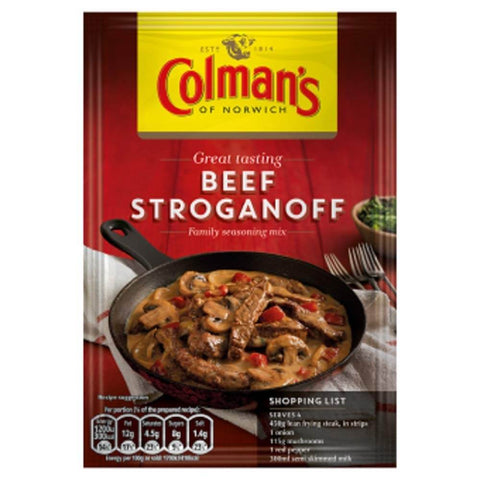 Colmans Seasoning Mix - Beef Stroganoff  39g