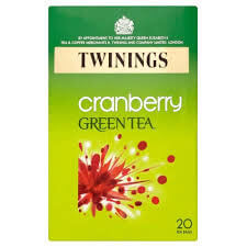 Twinings Tea - Green Tea With Cranberry (Pack of 20 Tea Bags) 40g