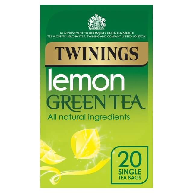 Twinings Tea - Lemon Green (Pack of 20 Tea Bags) 40g