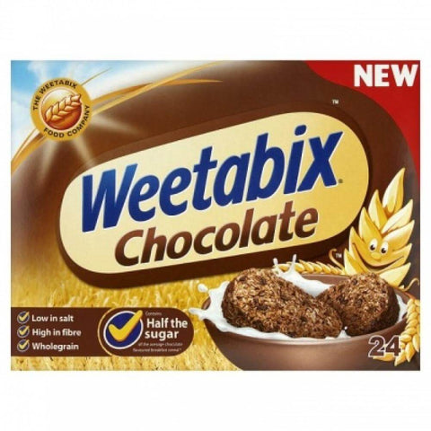 Weetabix Cereal - Chocolate (Pack of 24 Biscuits) 508g