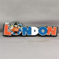 British Brands Magnet - PVC London Wording with Characters 17g
