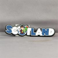 British Brands Magnet - PVC Scotland Wording with Characters 11g
