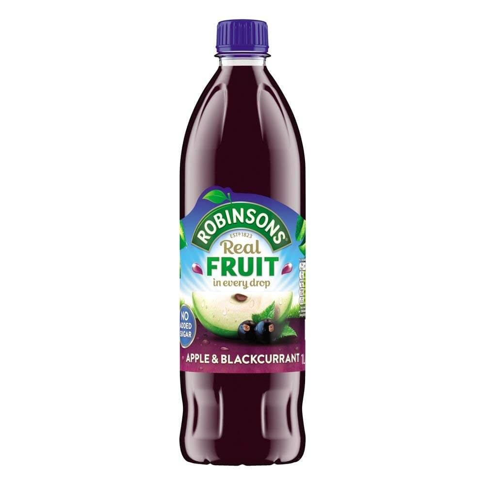 Robinsons Squash - Apple and Blackcurrant No Added Sugar 1L
