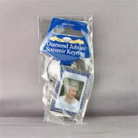 British Brands Keyring and Disc Epoxy Diamond Jubilee Portrait 150g