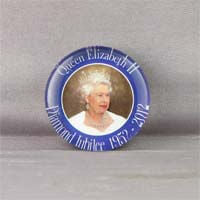 British Brands Magnet Pebble Look Diamond Jubilee Portrait 100g
