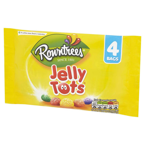 Rowntrees Jelly Tots - Multi Pack (Pack of 4 Bags) 112g