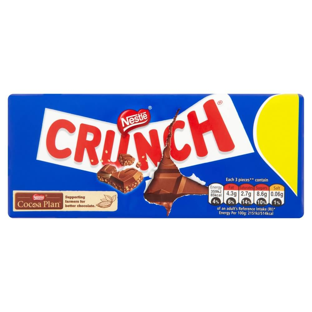 Nestle Crunch Milk Chocolate 100g