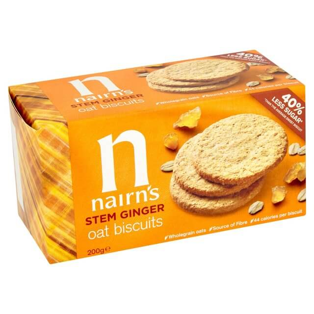 Nairns Oat Biscuits, Stem Ginger 200g