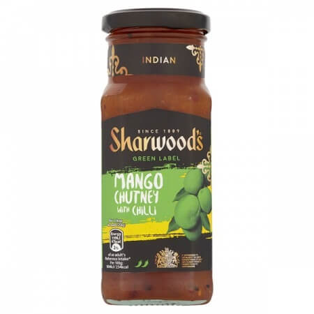 Sharwoods Chutney - Green Label Mango and Chilli 360g