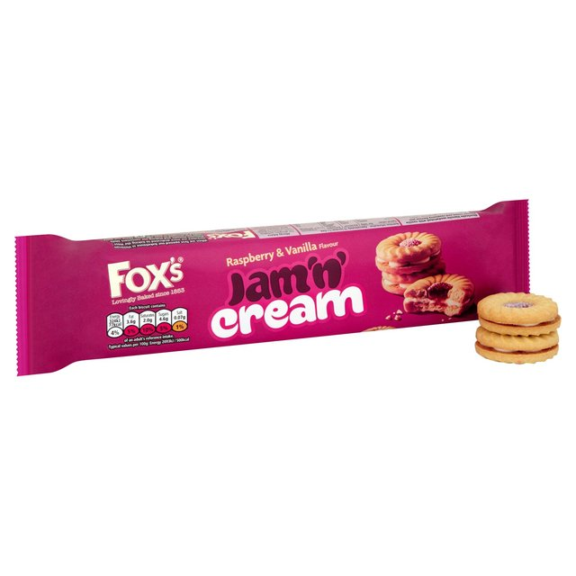 Foxs Jam n Cream Biscuits 150g