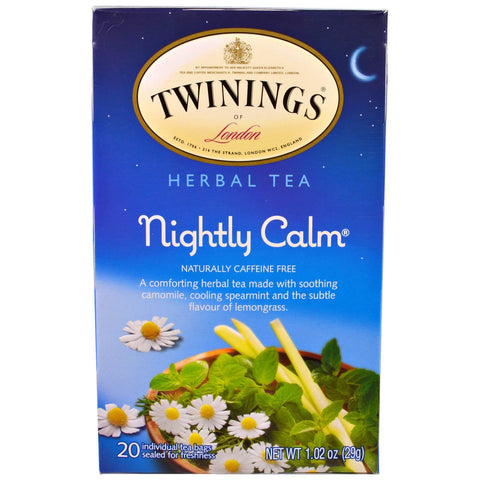 Twinings of London Tea - Nightly Calm Herbal (Pack of 20 Tea Bags) 29g