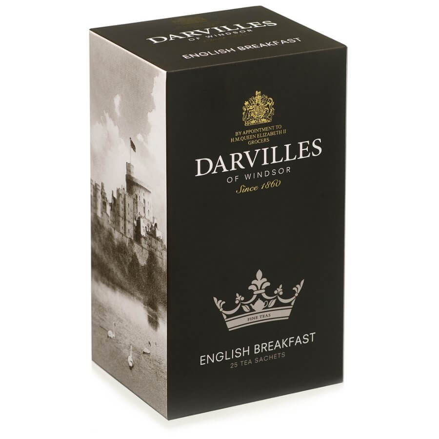 Darvilles of Windsor Tea - English Breakfast (Pack of 25 Tea Bags) 62.5g