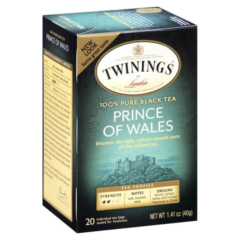 Twinings of London Tea - Prince of Wales (Pack of 20 Tea Bags) 40g