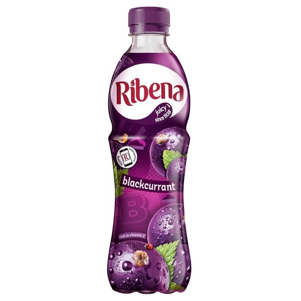 Ribena Blackcurrant Juice - Ready to Drink 500ml