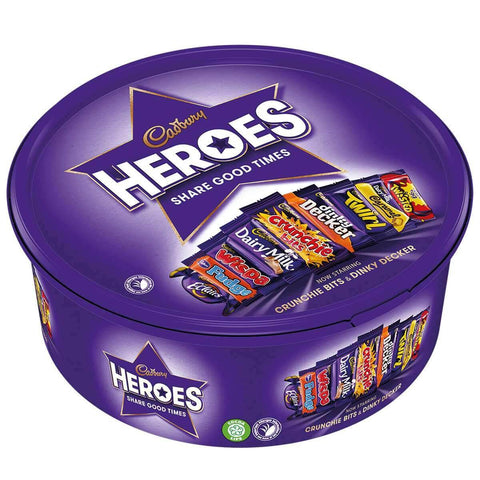 Cadbury Heroes Plastic Tub with New Dinky Deckers and Cruchie Bits 600g