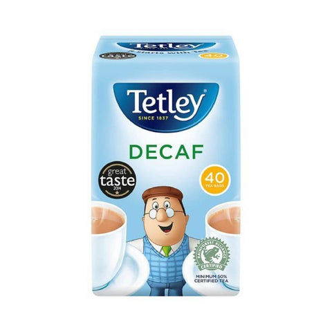 Tetley Decaf Tea (Pack of 40 Tea Bags) 125g