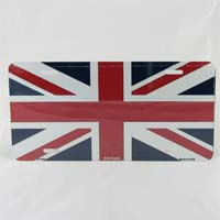 British Brands License Plate Union Jack 78g