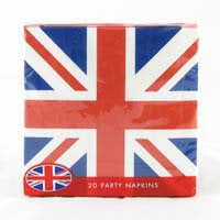 British Brands Union Jack Napkins (Pack of 20) 117g