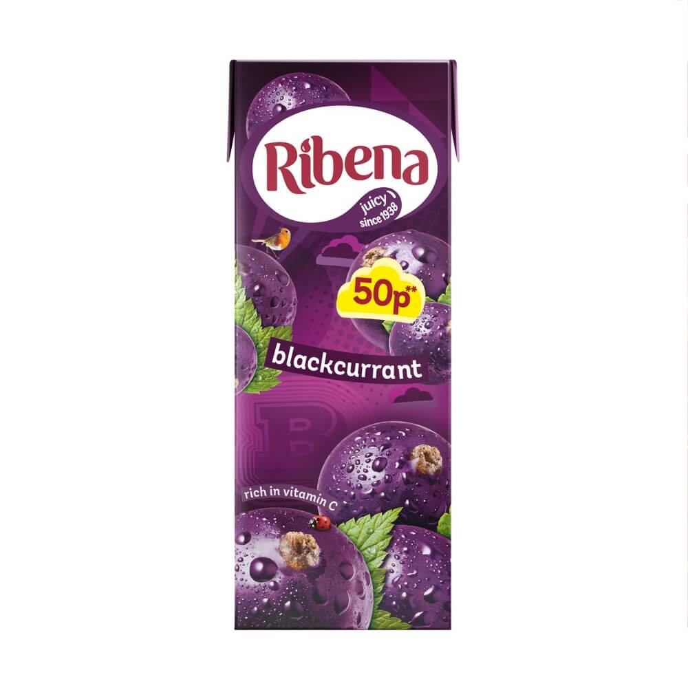 Ribena Blackcurrant Juice Mini Ready to Drink Juice Box 250ml