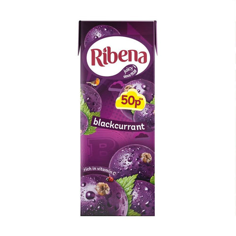 Ribena  Blackcurrant Juice - Mini Ready to Drink Juice Box 250ml