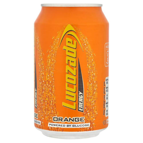Lucozade Orange Energy Drink Can 330ml