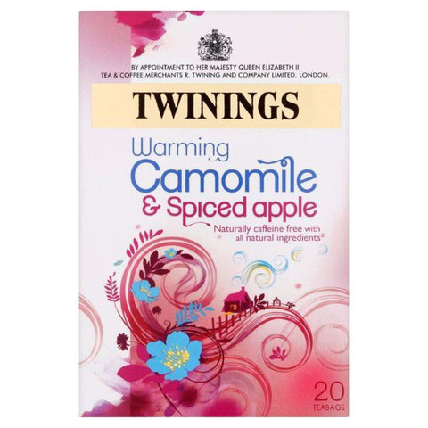 Twinings Tea - Chamomile with Spiced Apple (Pack of 20 Tea Bags) 25g