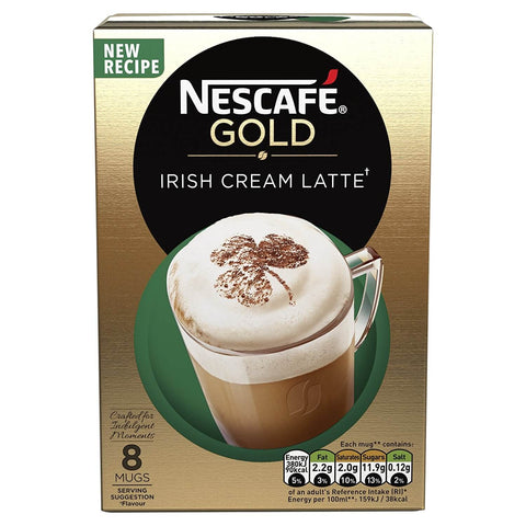 Nestle Nescafe Gold Irish Latte Mix (Pack of 8) 176g