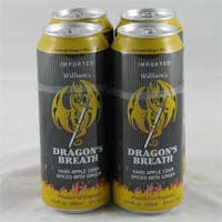 Williams Cider - Dragons Breath Hard Apple Cider Spiced with Ginger (Pack of 4 x 500ml) 2000ml