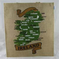 British Brands Shopping Bag - Ireland Map Jute Bag 150g
