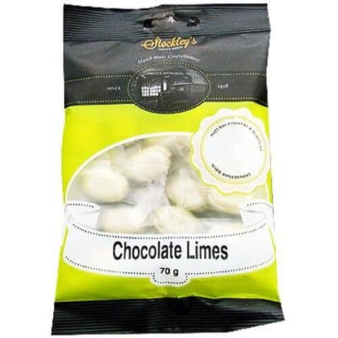 Stockleys Chocolate Limes 100g