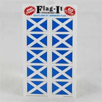 "British Brands Stickers Scotland St. Andrews Cross Flag (10 Stickers per Sheet) 1.5"" x 1"" 10g"