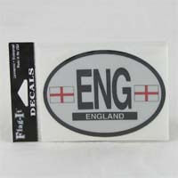British Brands Decal - England Oval Shape Reflective and Waterproof 10g