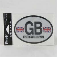 British Brands Decal Great Britain Oval Shape Reflective and Waterproof 10g