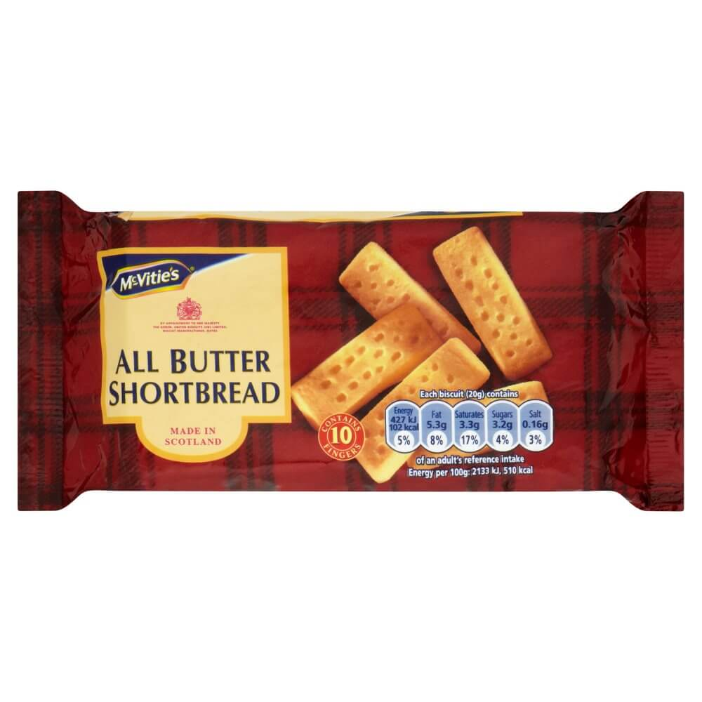 McVities All Butter Shortbread Fingers 200g