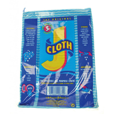 Johnsons Original J Cloths (Pack of 5) 55g