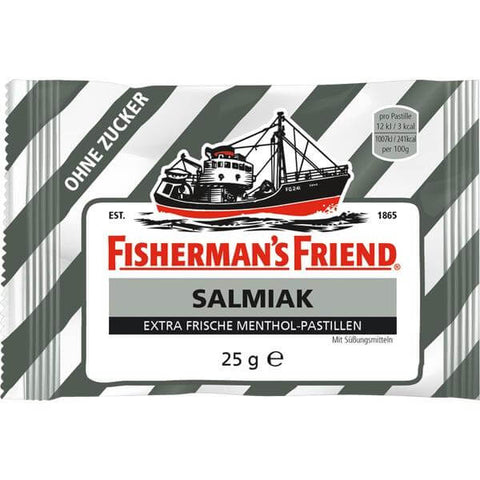Lofthouse Fishermans Friend - Sterke Salmiak (Strong Salty) Liquorice Sugar Free Lozenges 25g