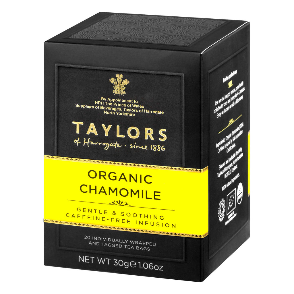 Taylors of Harrogate Yorkshire - Organic Chamomile (Pack of 20 Tea Bags) 30g